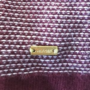 Tommy Hilfiger Sweaters - Tommy Hilfigure Burgundy/White Cardigan